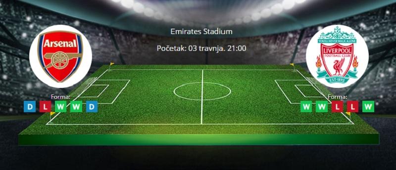 Tipovi za Arsenal vs. Liverpool 3. travanj 2021 - Premiership