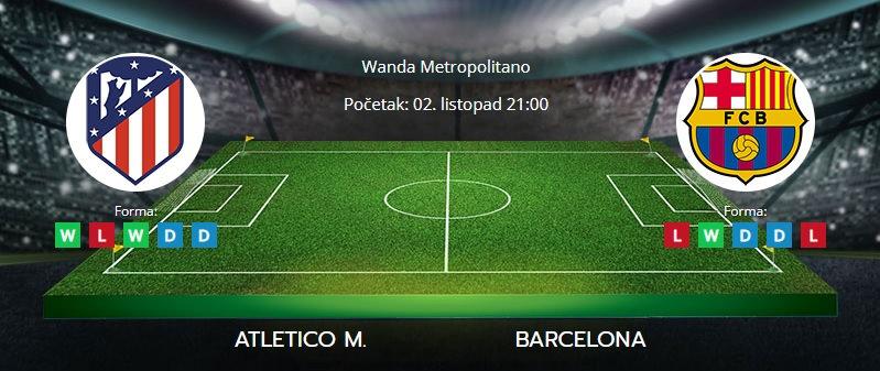 Tipovi za Atletico vs. Barcelona, 2. listopad 2021., La Liga