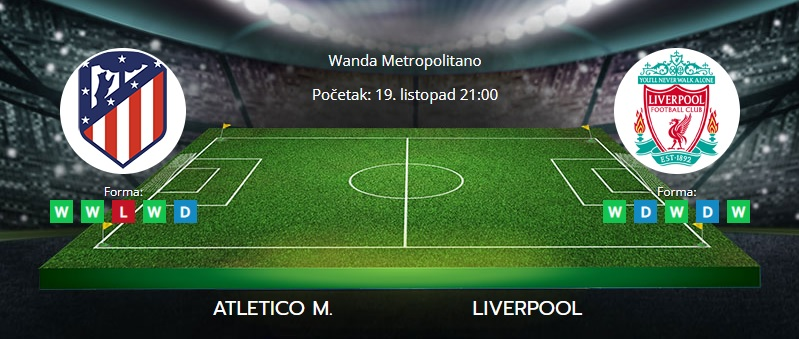Tipovi za Atletico vs. Liverpool, 19. listopad 2021., Liga prvaka