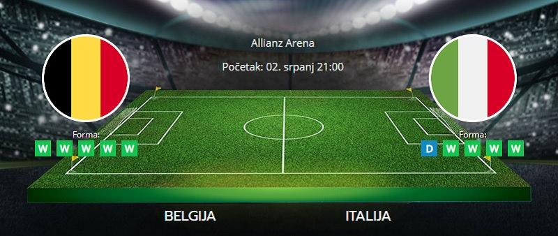 Tipovi za Belgija vs. Italija, 2. srpanj 2021., Europsko prvenstvo