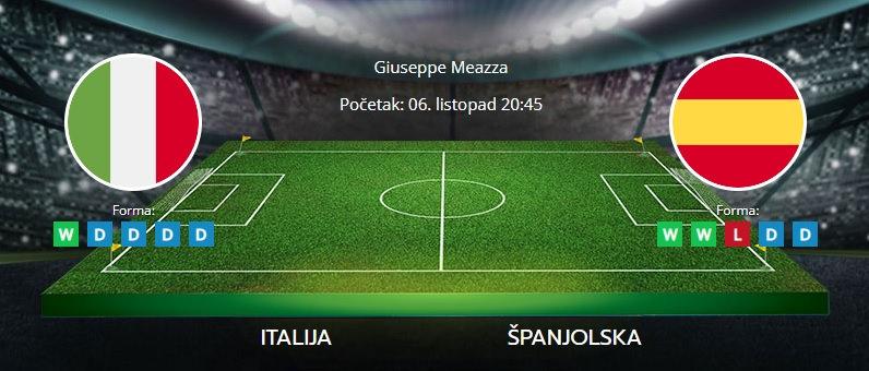 Tipovi za Italija vs. Španjolska, 6. listopad 2021., Liga nacija