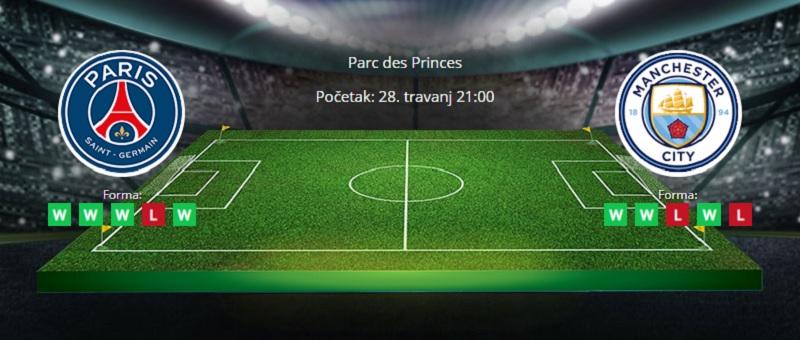 Tipovi za PSG vs Manchester City 28. travanj 2021. - Liga prvaka