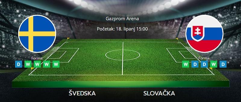 Tipovi za Švedska vs. Slovačka, 18. lipanj 2021., Europsko prvenstvo