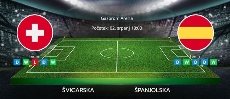Tipovi za Švicarska vs. Španjolska, 2. srpanj 2021., Europsko prvenstvo