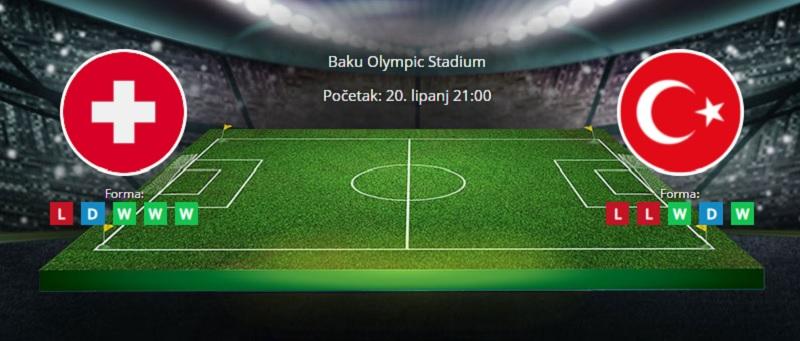 Tipovi za Švicarska vs. Turska, 18. lipanj 2021., Europsko prvenstvo
